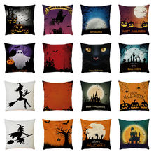 Halloween Pillow Case Linen Pumpkin ghosts Cushion Cover Home Decor Throw Pillow Cover Housse de Coussin Cojines New Pillowcases(China)