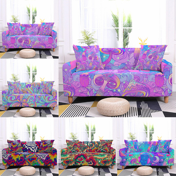 sofa cover elastic sofa cover 2020 new 3d printing non slipl shape 1 2 3 4 seater couch cover sofa cover for living room Psychedelic Mushroom Sofa Cover Elastic Stretch Couch Cover Sofa Covers for Living Room Sofa Decor Sofa Protector 1/2/3/4 Seater