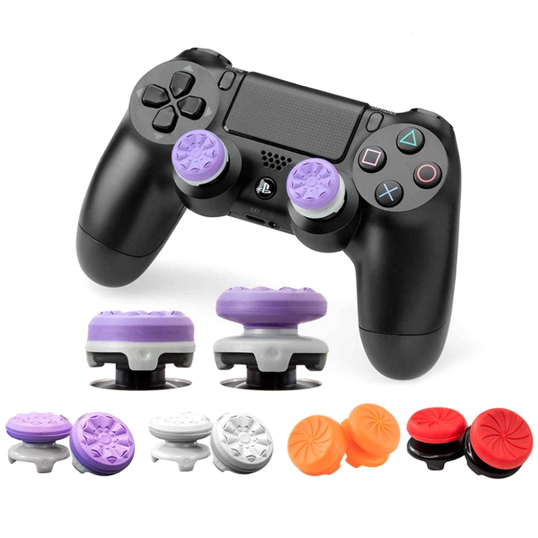 Нескользящие мягкие силиконовые колпачки для джойстика Bevigac 2 шт. с высокой посадкой, чехлы для игрового контроллера Sony PlayStation 4 PS4