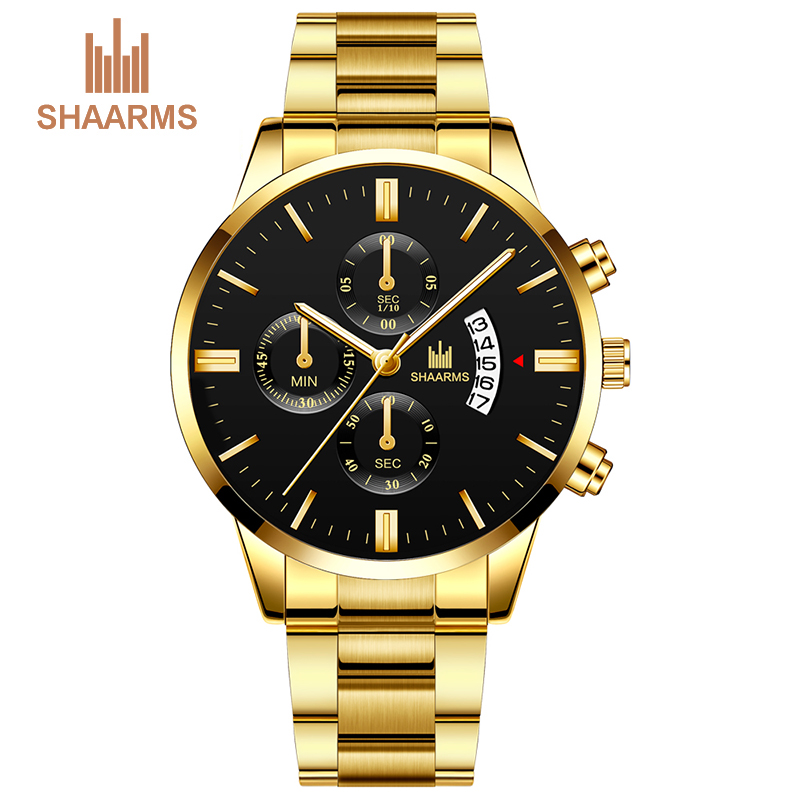 Men Luxury Fashion Stainless Steel Band Analog Quartz Mens Watches Casual Business Male Military Wristwatches Clock Montre Homme