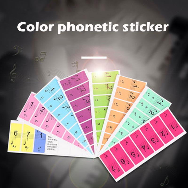 Musical Symbol Sticker Universal Professional Paper Colorful Tool Study Music Sticker Art Electronic Organ Piano Stickers image