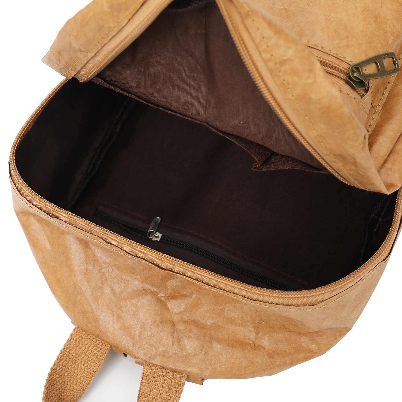 Pubgs unisex mochila 2019 novo saco de papel kraft dobrável descompactado lavável rasgo-resistente ao meio ambiente feminino e masculino