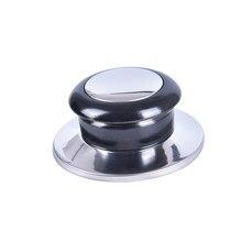 1/2 pièces résistant à la chaleur Pot Pan couvercles bouton poignée de levage noir et argent maison cuisine ustensiles de cuisine pièces de rechange