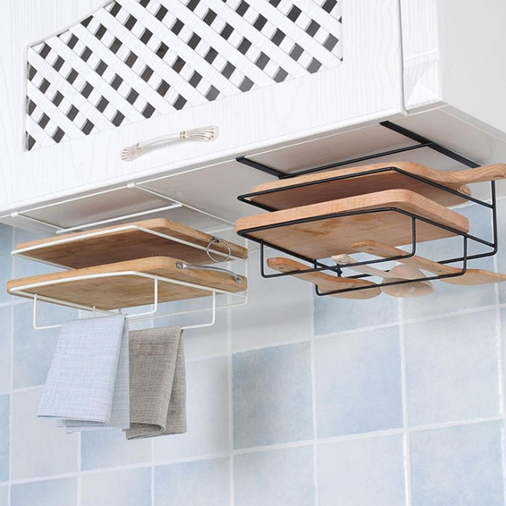 Kitchen Cabinet Wall Hanging Chopping Board Holder Shelf Storage Rack Organizer Tools Kitchen storage accessories