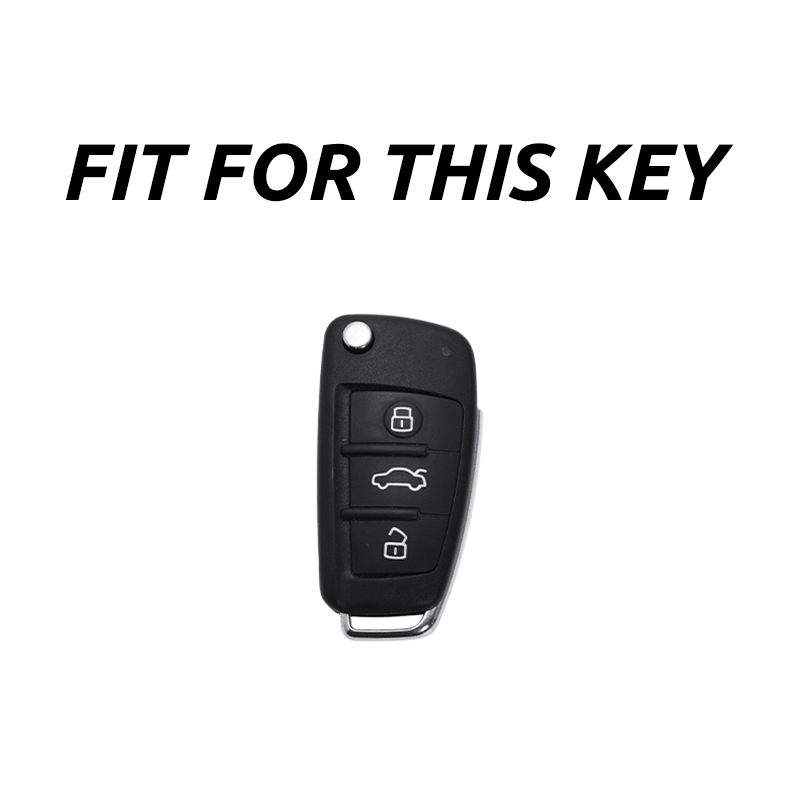 cheapest ABS Carbon Fiber Car Remote Key Case Cover For Audi A1 A3 A4 A5 A6 A7 A8 C5 C6 Q3 Q7 S3 TT Key Shell Fob Car Styling Accessories