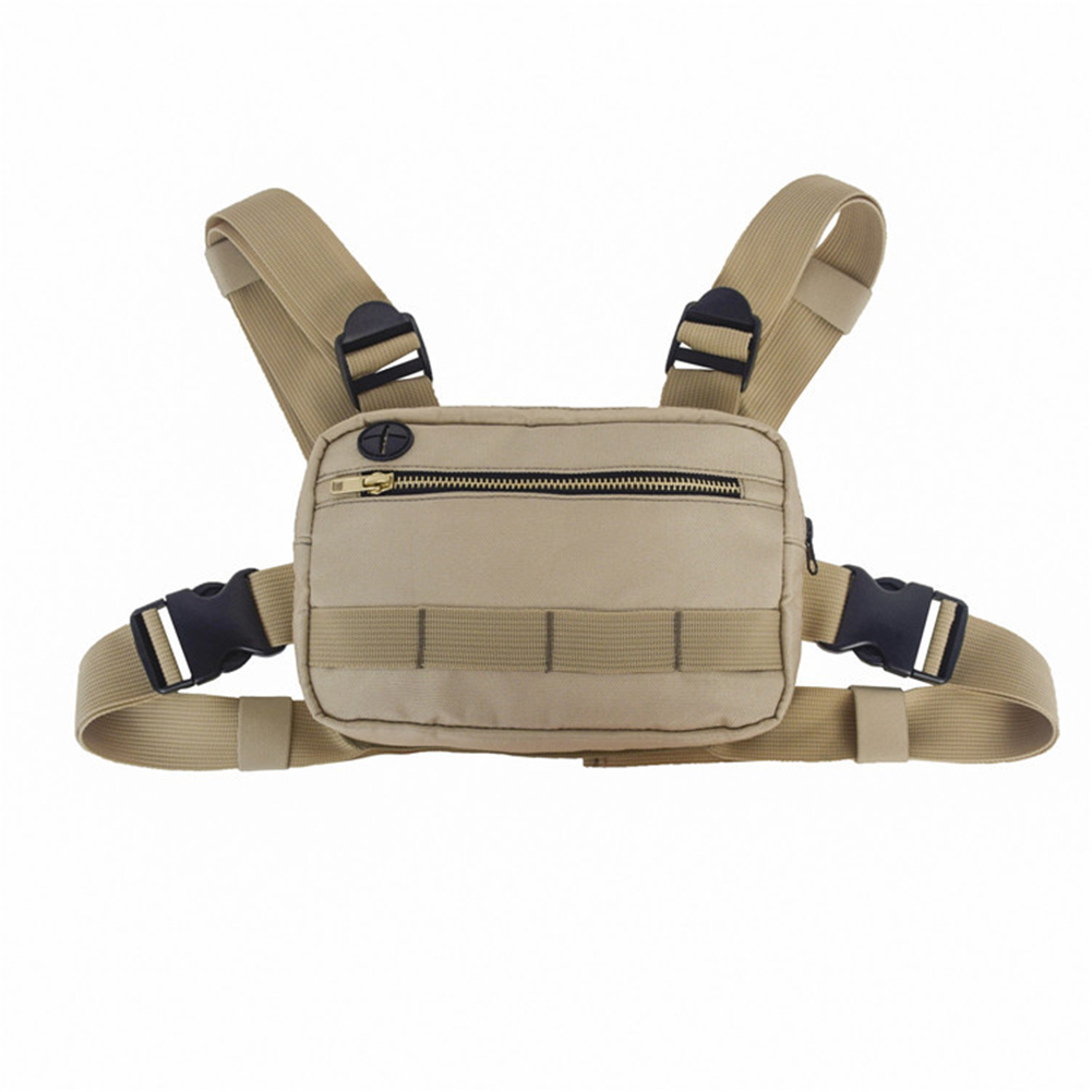 Fanny Pack Chest Bag Shoulder Adjustable Straps Waist Tactical Outdoor Functional Fashion Vest Shape Small Nylon Streetwear