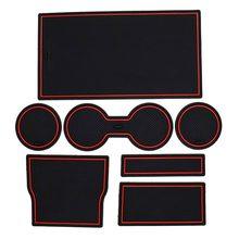 7-teiliges Set Von Tesla Modell 3 Auto Innen Anti Slip Pad Auto Konsole Liner Acessories Tasse Und Zentrum konsole Liner