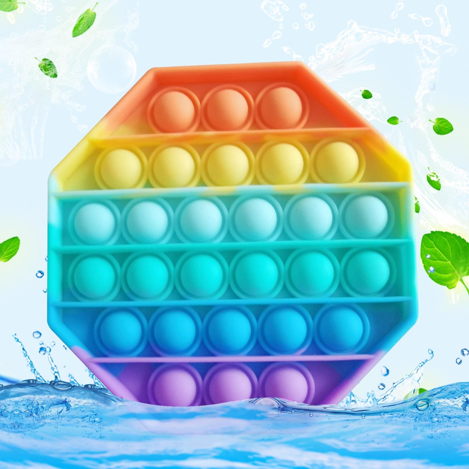 Adult Toys Autism Fidget Bubble-Sensory Anti-Stress Squishy Pop-It Push-Pops Needs Rainbow img3