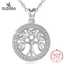 Женское ожерелье с кулоном «древо жизни» из серебра 925 пробы