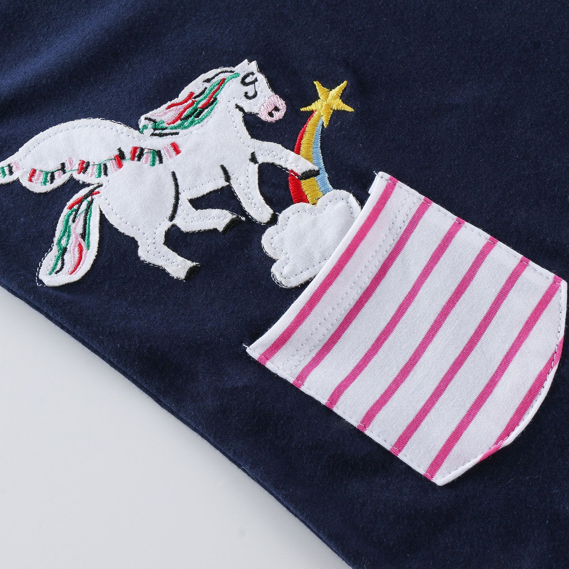 SAILEROAD Girls Unicorn Costume Cartoon Cotton Long Sleeve Lovely Dresses  Autumn Winter for Baby Girl Party Dress 2-7Years 5