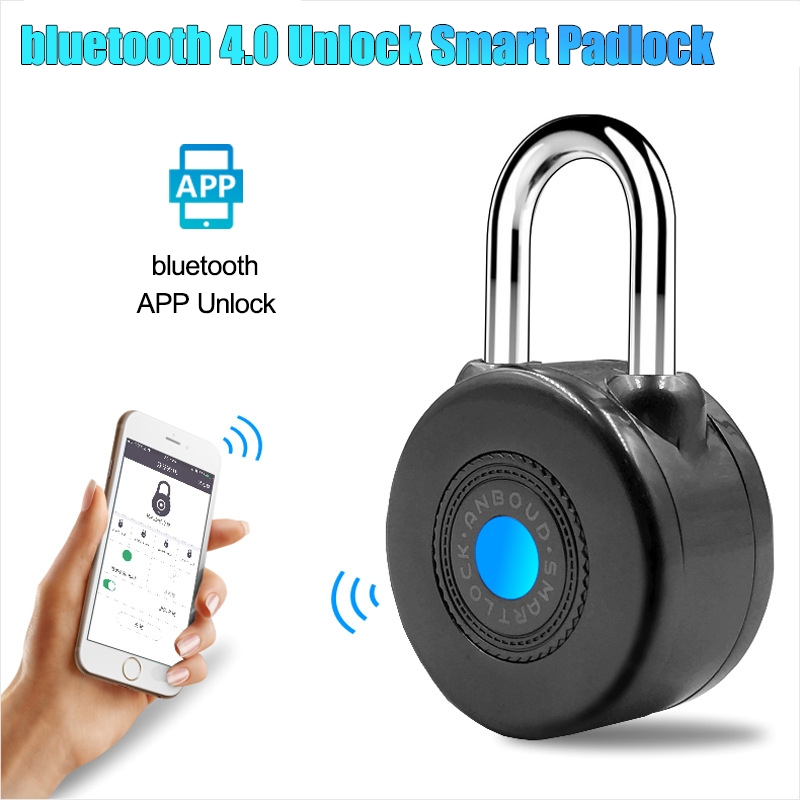 Door Fingerprint Lock Security Portable Smart Waterproof Keyless Lock APP Control Bluetooth Unlock Smart Padlock Anti-theft Lock