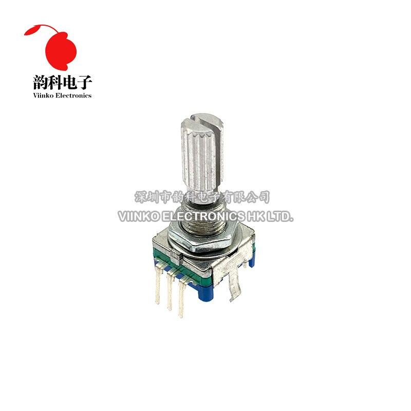 5 pièces prune poignée 20mm codeur rotatif commutateur de codage EC11 potentiomètre numérique avec interrupteur 5 broches