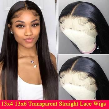 13 #215 4 13 #215 6 przezroczyste koronki przodu włosów ludzkich peruk 180 200 gęstości Remy niewidoczne brazylijski prosto koronki przodu peruka dla kobiet tanie i dobre opinie SAY ME Długi Lace Front wigs HD koronkowe peruki Proste Remy włosy Ludzki włos 1 sztuka tylko Pół maszyny wykonane i pół ręcznie wiązanej