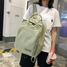 купить Waterproof Nylon School Bags Fashion Backpack Women Travel Backpack School Bags for Teenage Girls Large Capacity School Backpack дешево