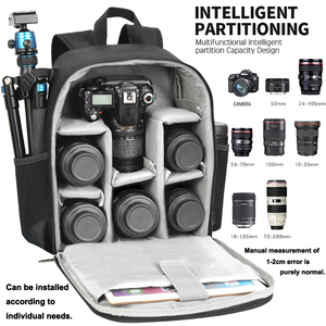 Image 2 - Cadenカメラバックパック多機能デジタル一眼レフカメラバッグ防水バッグ屋外カメラ写真ニコン、キヤノン、ソニー