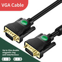 Cable VGA a VGA para Monitor de ordenador, cable de conexión macho a macho, 3m, 2m, 1,5 m, 1m, 5m, 8m, 10m, 12m, 15m, adaptador VGA