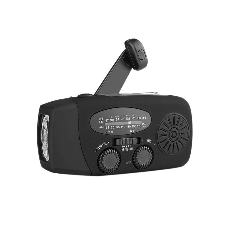 ABHU-Mini Solar Radio Portable Solar Emergency Flashlight Mp3 Music Player