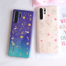 dried real flower clear phone accessories For Huawei P30 Pro P20 p40 lite Mate 30 honor 20 pro silicone transparent cover case(China)