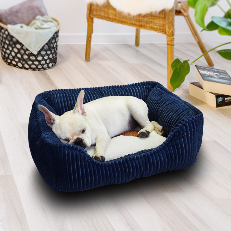US $10.98 33% OFF|Pet Dog Sofa Bed Large Dog Bed Warm Dog House Waterproof  Bottom Soft Fleece Cat Corduroy Non Slip Bed Small Medium Large Dogs on ...
