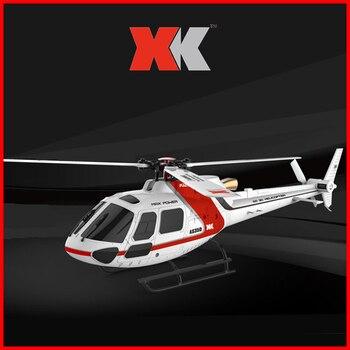 Oryginalny XK K123 6CH bezszczotkowy AS350 skala 3D6G System helikopter RC RTF Upgrade WLtoys V931