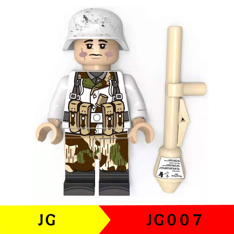 Single Sale Compatible LegoINGlys Military WW2 Weapons Armed Swat Snow Special Forces Soldiers Building Bricks Toy Children Gift