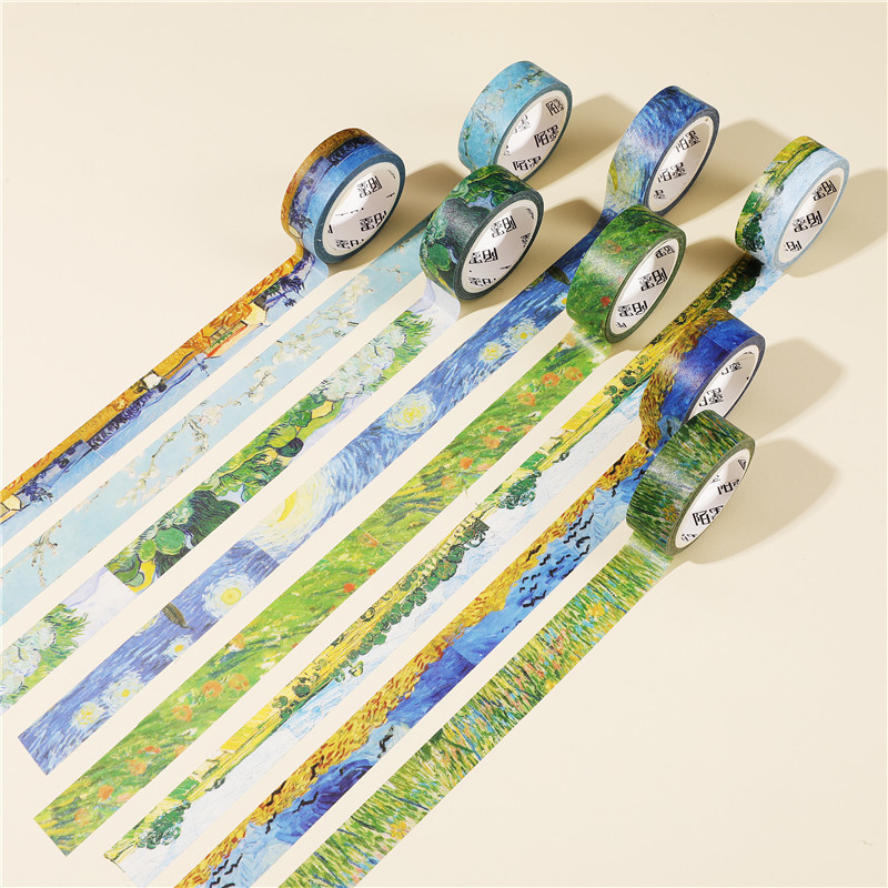 Starry Night Van Gogh Kawaii Washi Tape Scrapbooking Masking Tape Stickers Scrapbooking Washitape Washy Tape Sumikko Gurash 2466