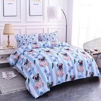 Blue Bedding Set Cartoon Dog Kids Duvet Cover Set Pillowcase Cover Quilt Comforter Cover Duvet Set Queen