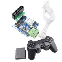 цена на Wireless Gamepad for PS2 Controller+ 4 Channels Motor Driver Servo Expansion Board for Arduino UNO R3 Mecanum Wheel Robot