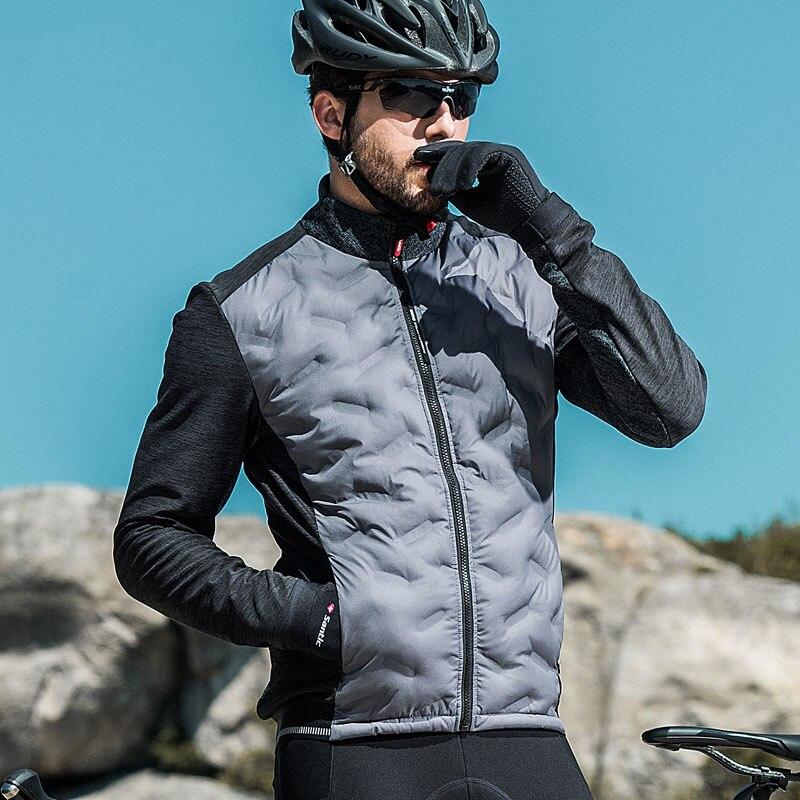 Santic Mens Cycling Jacket Winter Coat Inner Fleece Jacket Windproof Thermal Soft Shell Reflective