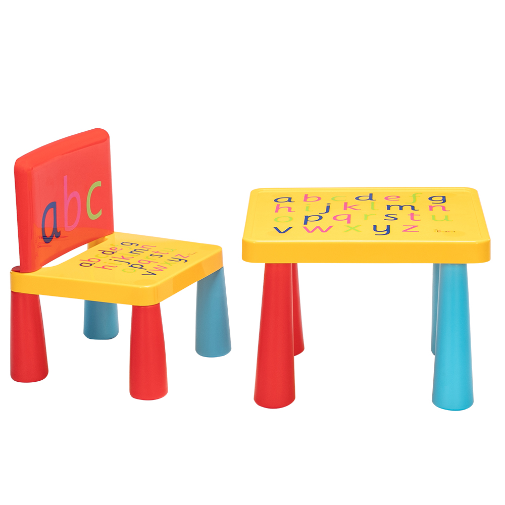 40 x 35 x 30cm Plastic Children Table and Chair One Table And One Chair Reduced Version Mushroom Leg