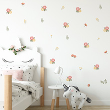 Funlife Pink Flower Wall Sticker,Wall Art Decal For Girl's Gift Bedroom Party Decoration,Cute Flower PVC Wall Mural Sticker Kids