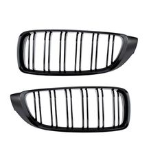 2Pcs/set Bright Black Double Slat Kidney Grille Front Bumper Racing Grill for B-MW 4 Series F32 F33 F36 420i 428i 435i M4 for bmw f36 carbon rear spoiler m4 style 4 series 4 door gran coupe carbon spoiler 2014 2015 2016 up 420i 420d 428i 435i