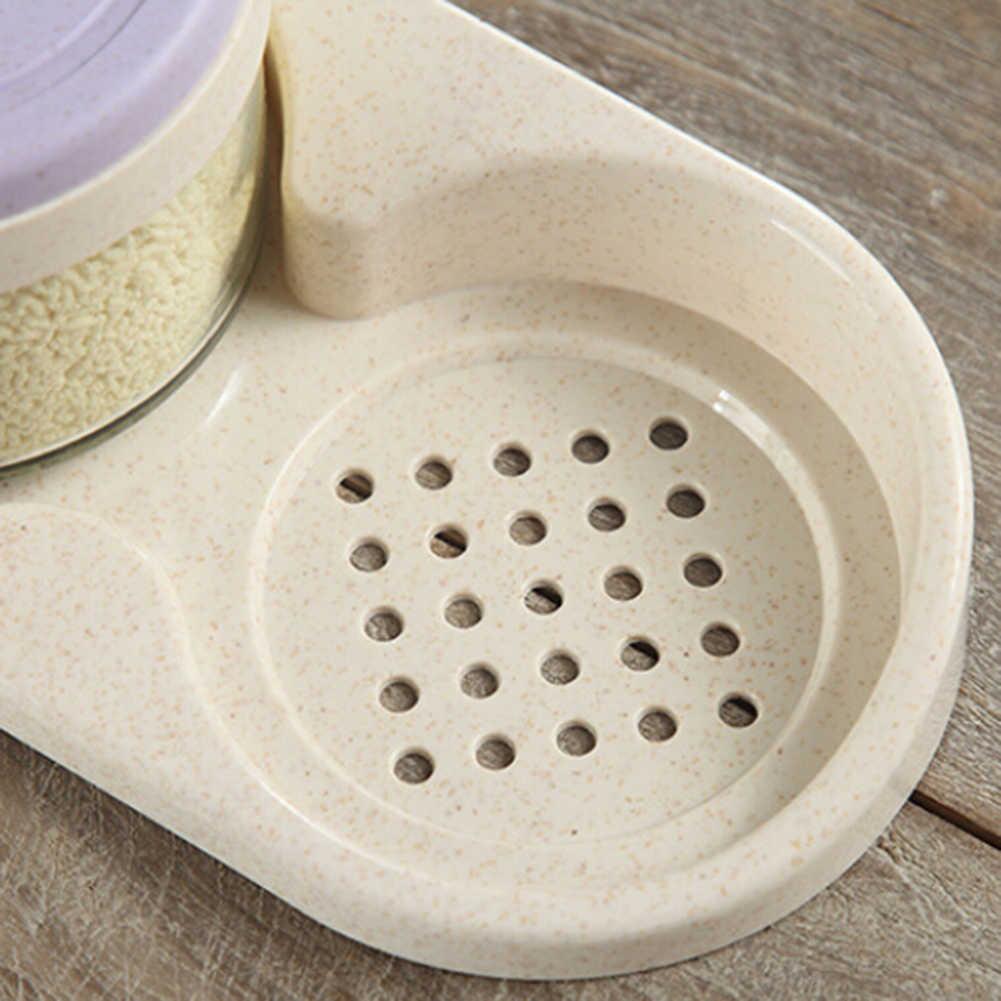 Kaca Transparan Dapur Gula Garam Bumbu Jar Bumbu Kotak Penyimpanan dengan Sendok 2020