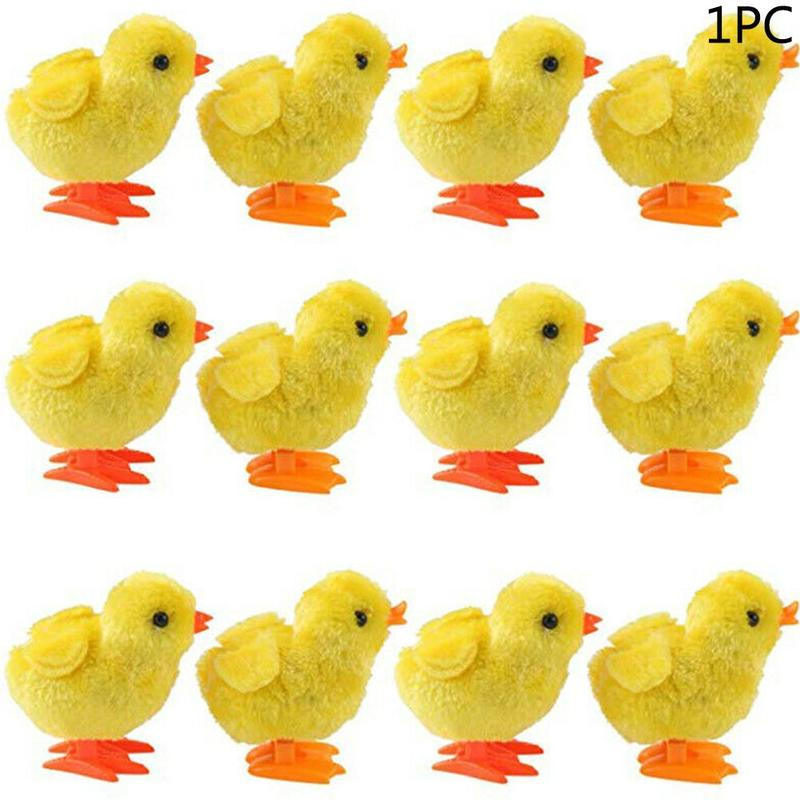 Cute Plush Wind Up Chicken Toy Kids Educational Toy Clockwork Chicken Toy Jumping Walking Chicks Toys For Children Baby Gifts