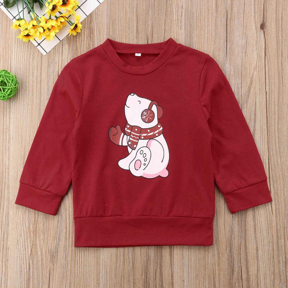Noel aile eşleştirme kadın erkek çocuklar kazak Hoodies kazak Xmas Santa kırmızı uzun kollu sonbahar kış üst t-shirt