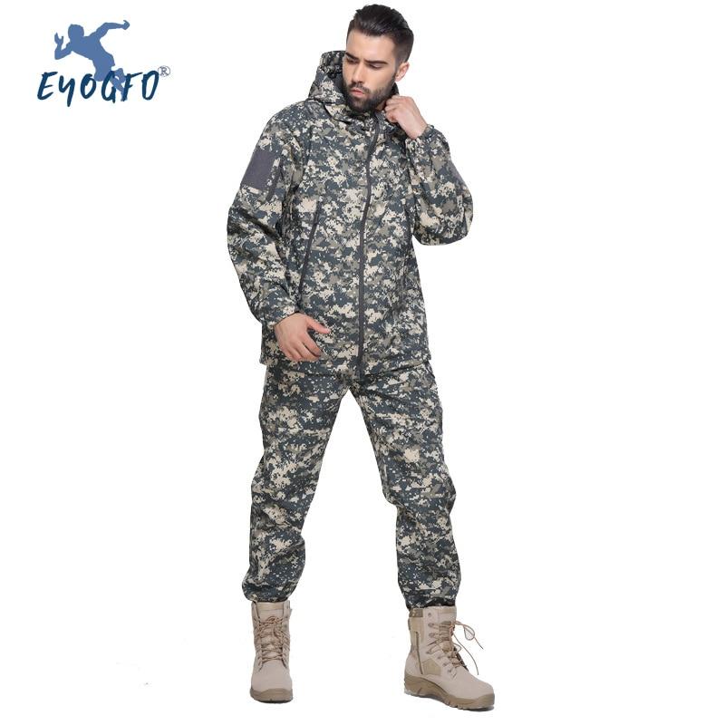 Winter Men's Ski Suit Sports Set Mountaineering Outdoor Windproof Waterproof Comprehensive Training Sets Camouflage Sportswear