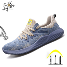 Boots Protective-Shoes Work Steel-Toe Safety Breathable Men's Fashion Non-Slip Anti-Stab