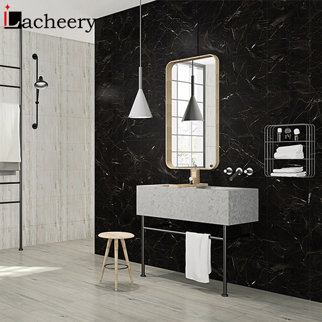 Modern Thick Self Adhesive Floor Stickers Fashion Marble Bathroom Ground Wallpapers DIY Bedroom Wall Sticker Decals Room Decor 2