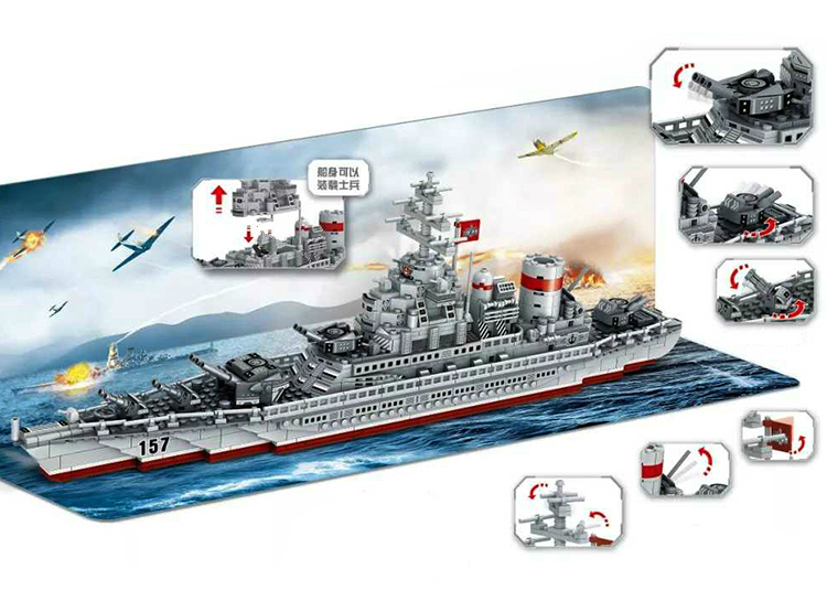 ww2 navios de guerra militares serie blocos 05