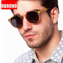 RBROVO 2018 Classic Vintage Round Sunglasses Women/Men Outdo