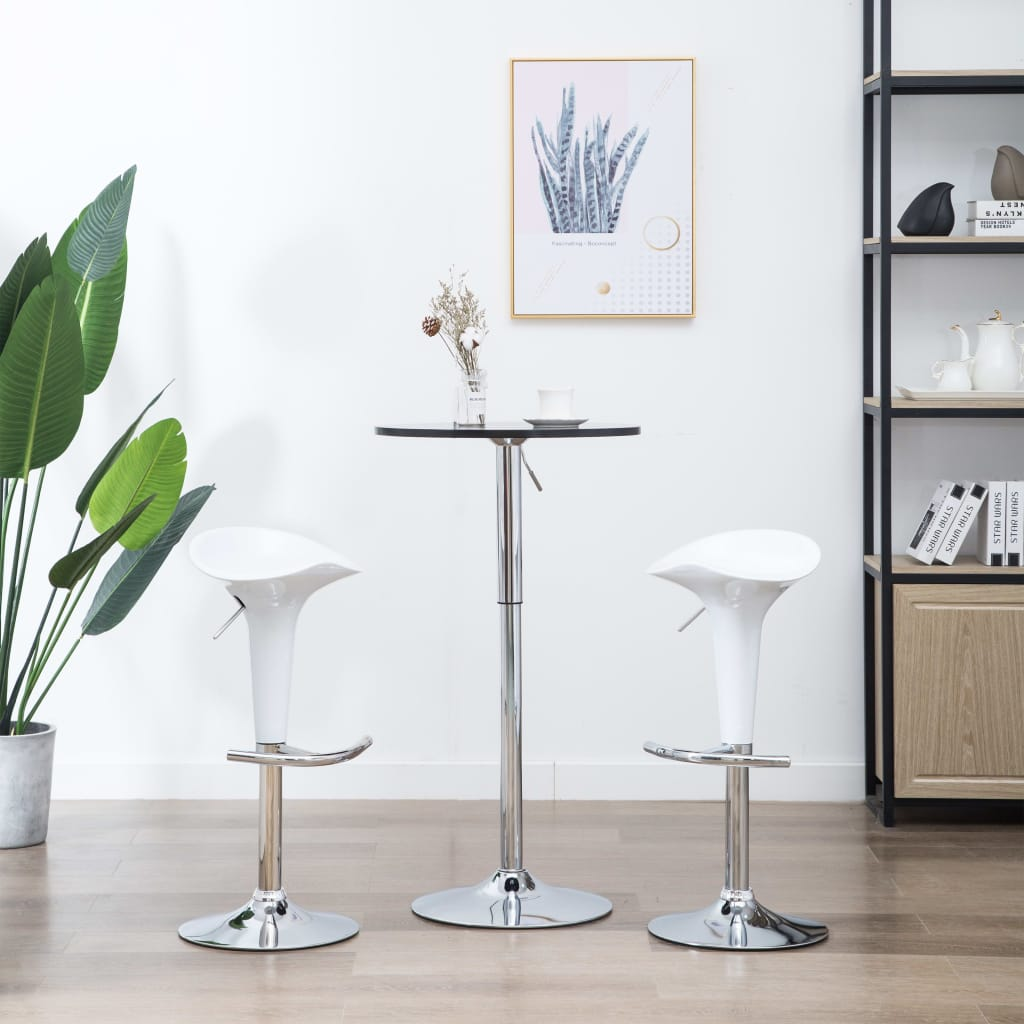 VidaXL Bar Stools 2 Pcs White Plastic