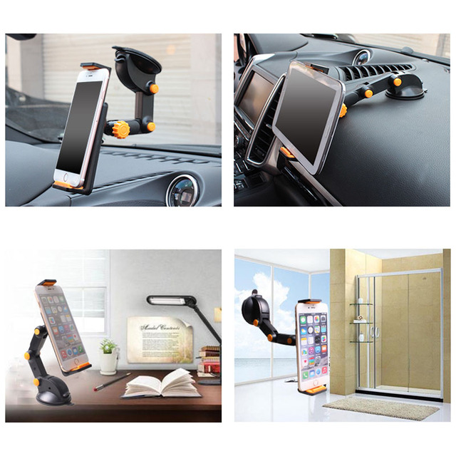 Vmonv Tablet Phone Stand for IPAD Air Mini 1 2 3 4-11Inch Strong Suction Tablet Car Holder Stand for ipad iPhone X 8 7 Tablet PC 4