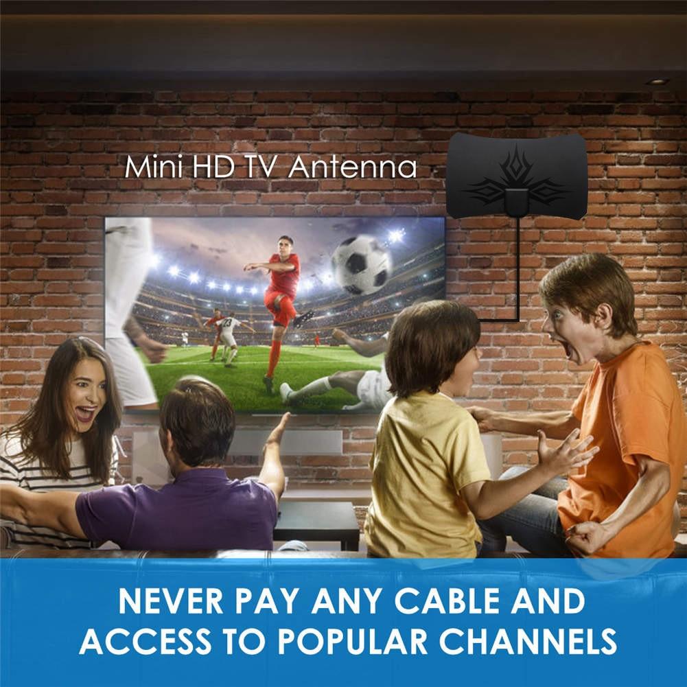 Indoor 980 Miles Digital Antenna TV Amplifier Signal Booster DVB-T2 HDTV Antenna Clear Satellite Dish Receiver JHP-Best