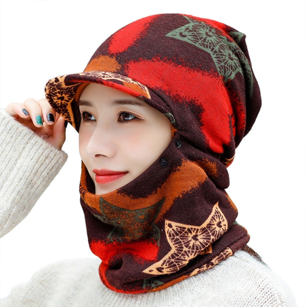 Winter Warm Face Mask Cold Weather Face Cover Hats for Women