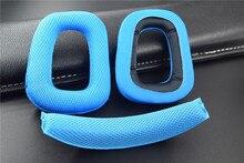 Leory conjunto de almofadas para fones de ouvido, substituição de forro e fita para logitech g930 g430 f450, acessórios de ouvido macio