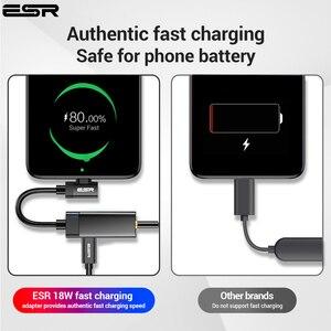 Image 4 - ESR USB C do gniazda 3.5 typ C Adapter kabla do Huawei P20 Pro Xiaomi Mi 6 8 9 se uwaga USB type c 3.5mm AUX konwerter słuchawkowy