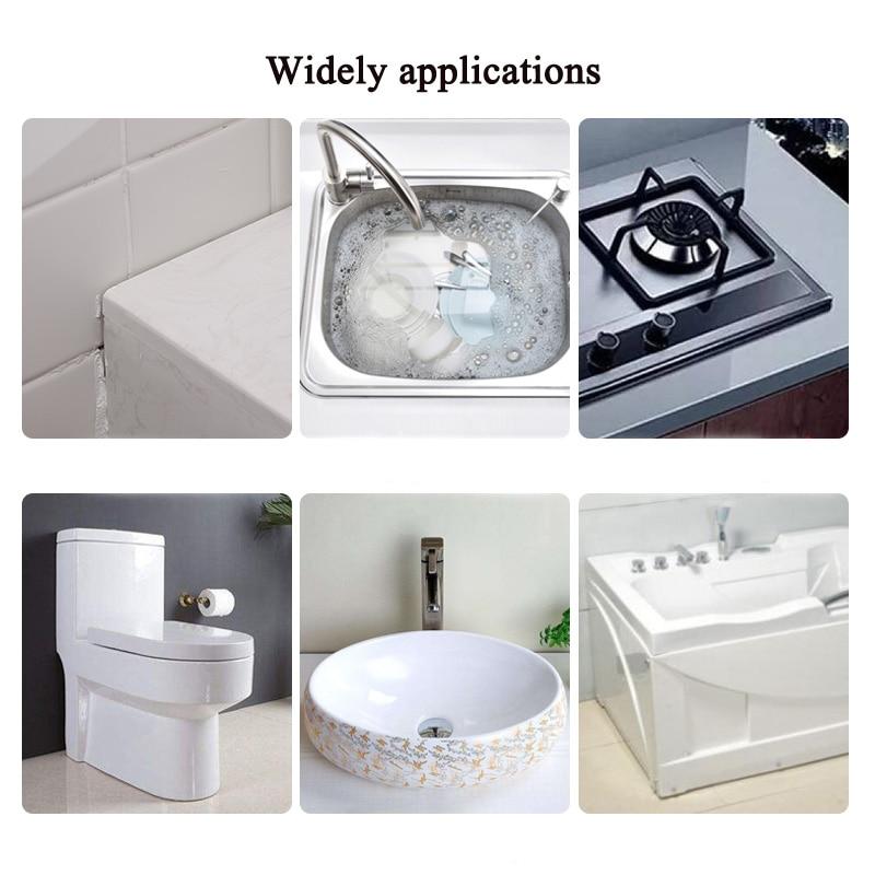 Xinjieda Dichtungsstreifen K/üchenecke Linie Sink Staubdicht Waterproof Badezimmer-Wand Klebeband Wei/ß Home Decoration