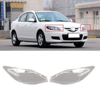 1Pair Car Front Headlight Cover for Mazda 3 M3 2011-2015 Headlight Waterproof Clear Lens Auto Shell Cover Right/Left