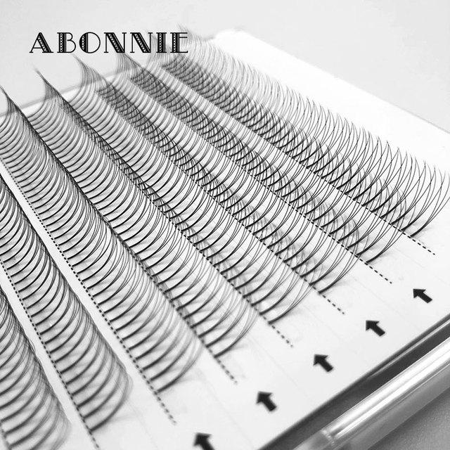 ABONNIE Premade Volume Fans Lash Russian Volume Professional Eyelash Extensions C/D Curl Eyelash Extension Faux Mink 3D/4D/5D/6D 2