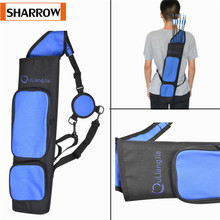 Archery  Arrow Quiver Portable Back Shoulder Bag Holder Pouch Adjustable Belt Large Capacity Hunting Shooting Accessories 45 8 5cm arrow quiver oxford cloth arrow bag 2 point single shoulder for archery hunting shooting archery